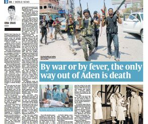 By war or by fever, the only way out of Aden is death